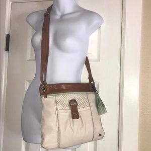 SAK Kendra Hobo Leather Crossbdy/Shlder Purse EUC